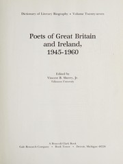 Cover of: Poets of Great Britain and Ireland, 1945-1960 | edited by Vincent B. Sherry, Jr.