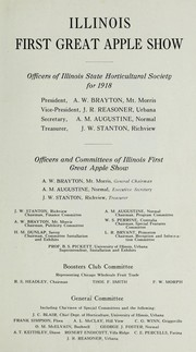 Cover of: Illinois first great apple show