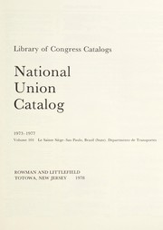 Cover of: National union catalog | compiled by the Library of Congress with the cooperation of the Committee on Resources of American Libraries of the American Library Association. 1956-1982.