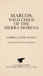 Cover of: Marcos, wild child of the Sierra Morena