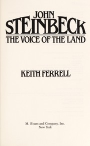 Cover of: John Steinbeck, the voice of the land | Keith Ferrell