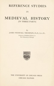 Cover of: Reference studies in medieval history