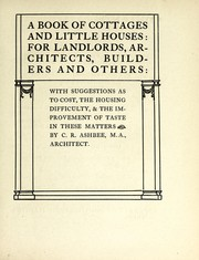 Cover of: A book of cottages and little houses