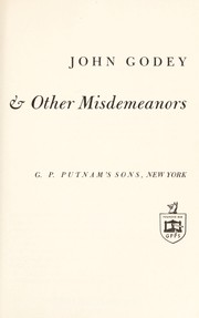 The crime of the century & other misdemeanors by John Godey