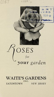 Cover of: Roses for your garden [price list] | Waite