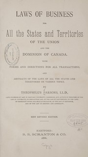 Cover of: Laws of business for all the states and territories of the Union and the Dominion of Canada