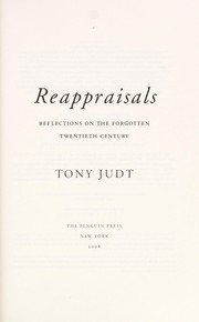 Cover of: Reappraisals: Reflections on the Forgotten Twentieth Century
