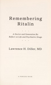 Cover of: Remembering Ritalin