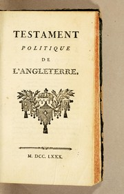 Cover of: Testament politique de l'Angleterre