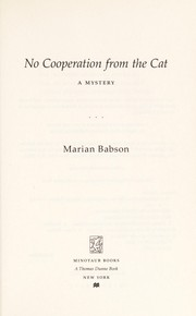 Cover of: No cooperation from the cat