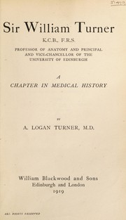 Cover of: Sir William Turner