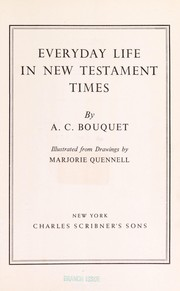 Cover of: Everyday life in New Testament times