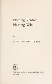 Cover of: Nothing venture, nothing win