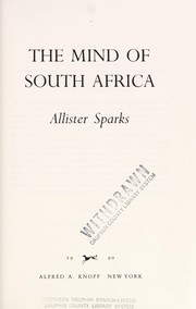 Cover of: The mind of South Africa