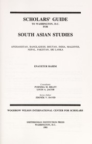 Cover of: Scholars' Guide to Washington, D.C., for South Asian Studies