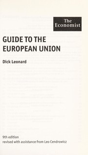 Cover of: Guide to the European Union | R. L. Leonard