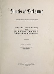 Cover of: Illinois at Vicksburg | Illinois. Vicksburg Military Park Commission.