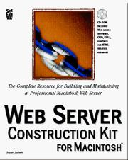 Cover of: Web server construction kit for the Macintosh