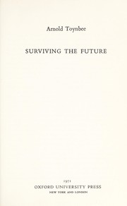 Cover of: Surviving the future