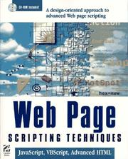Cover of: Web Page Scripting Techniques | Jason Bloomberg