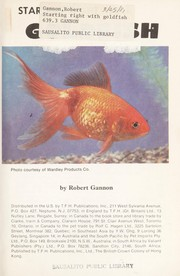 Cover of: Starting right with goldfish