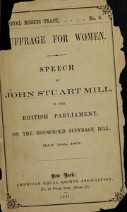 Cover of: Suffrage for women: speech