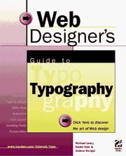 Cover of: Web designer's guide to typography