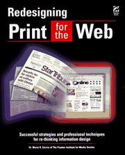 Cover of: Redesigning Print for the Web | Mario R. Garcia