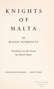 Cover of: Knights of Malta. | Roger Peyrefitte
