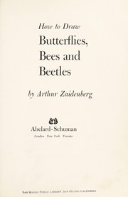 Cover of: How to draw butterflies, bees, and beetles