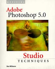 Cover of: Official Adobe Photoshop 5.0 studio techniques | Ben Willmore