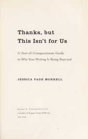 Cover of: Thanks, but this isn't for us