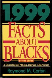 Cover of: 1,999 facts about Blacks | Raymond M. Corbin
