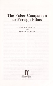 Cover of: The Faber companion to foreign films | Ronald Bergan