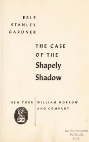 Cover of: The case of the shapely shadow