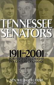 Cover of: Tennessee senators, 1911-2001: portraits of leadership in a century of change