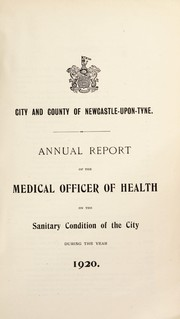 Cover of: [Report 1920] | Newcastle upon Tyne (England). City & County Council