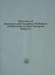 Cover of: Directory of American and Canadian publishers of materials on East European subjects