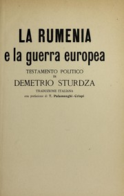 Cover of: La Rumenia e la guerra europea