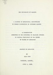Cover of: A history of educational institutions in Mormon communities of southern Alberta