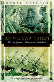 Cover of: As we saw them