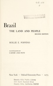 Cover of: Brazil: the land and people