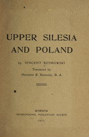 Cover of: Upper Silesia and Poland