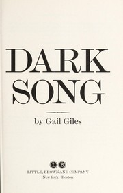 Cover of: Dark song
