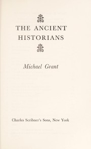 Cover of: The ancient historians