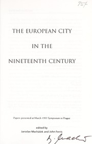 Cover of: The European city in the nineteenth century |