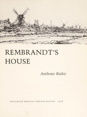 Cover of: Rembrandt's house