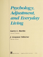 Cover of: Psychology, adjustment, and everyday living | Garry Martin