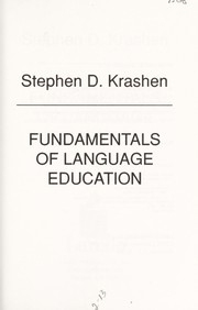 Cover of: Fundamentals of language education