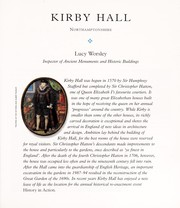 Cover of: Kirby Hall (Guidebook)